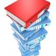 High stack of office folders — Stock Photo