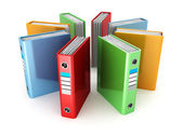 Office ring binders — Stock Photo