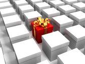 Czerwone pudełko — Zdjęcie stockowe