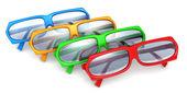 Colorful stylish modern glasses — Stock Photo