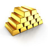 Barres empilées de doré — Photo