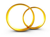 Bagues de mariage or blanc — Photo