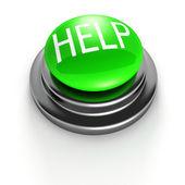 Green Help Button — Stock Photo