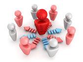 3d illustration of leadership concept — Stock Photo