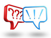 Question and exclamation marks — Stock Photo