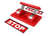 Toggle start stop red switch — Stock Photo
