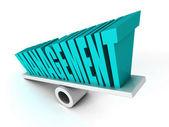 MANAGEMENT concept word on balance — Zdjęcie stockowe