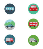 Car Icon Set — Stock Vector