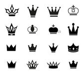 Simple crown icons  — Stockvector