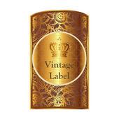 Golden label vector — ストックベクタ