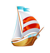 Sailing icons vector art symbol — Stock Vector