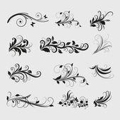 Vintage Olive Design Elements — Stock Vector