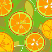 Orange Fresh Taste — Stock Vector