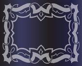 皇家复古框架向量的深蓝色背景 — 图库矢量图片