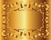 Vintage Royal Background Victorian Gold Floral Luxury Ornamental — Stock Vector
