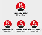 List logo k - szablon ikona litery k — Wektor stockowy