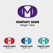 Logo m dopis. — Stock vektor
