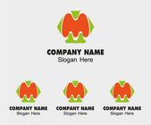 M alphabet logo vector letter M icon — Stock Vector