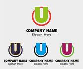 U logo Company name symbol letter U — Stock Vector