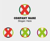 X logo Company name symbol letter X — Stock Vector