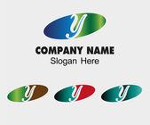 Y logo Company name symbol letter Y — Stock Vector