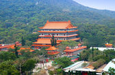 Po Lin Nunnery on the Lantau Island of Hong Kong — Stock Photo