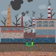 Постер, плакат: Old factory pollution