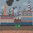 Постер, плакат: Old factory pollution