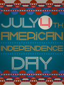 Vector american independence day retro poster — Stock Vector
