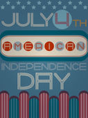 American independence day retro poster — Stock Vector