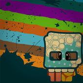 Grappige schedel. — Stockvector