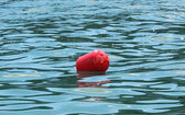 Red buoys on the water. — Stock Photo