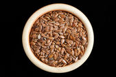 Flax seeds, linseed — Stock Photo