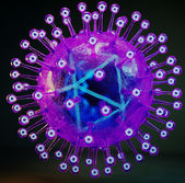 Wirus herpes simplex — Zdjęcie stockowe