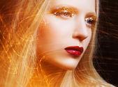 Model with luxury make-up. — Stock Photo