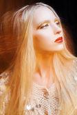 Model with luxury make-up — Stock Photo
