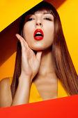 Moda kadın yüzü — Stok fotoğraf