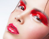 Fashion art make up woman face — Stock Photo