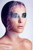 Fashion art make up woman face — Stock Photo