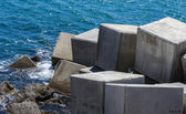 Breakwater cube — Stock Photo