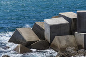 Breakwater cube — Stockfoto