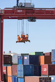 Picking-up of containers — Foto de Stock