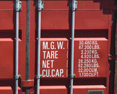 cargo container close-up — Stock Photo