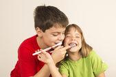 Utrzymanie zdrowych zębów — Zdjęcie stockowe