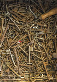 Many old keys — Stock Photo