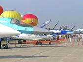 самолетов на авиашоу макс — Стоковое фото