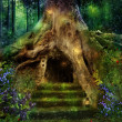 The house in the tree — Stock Photo #48486671