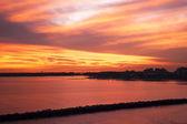 Zachód słońca w miami — Zdjęcie stockowe