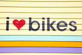 I Love Bikes — Stock Photo
