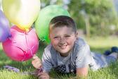 Küçük çocuk balon, — Stok fotoğraf